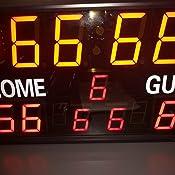 Delaman Tableau de comptage Tableau de Bord /à 4 Chiffres Tableau de Bord Sportif for Le Tennis de Table Basketball Badminton Comp/étitions Sportives