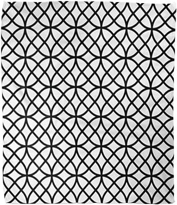 Amazon.com: Jereee White Black Geometric Pattern Soft Warm ...