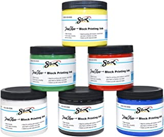 Sax True Flow Block Printing Ink - 16 Ounces - Set of 6 - Assorted Colors - 1299780