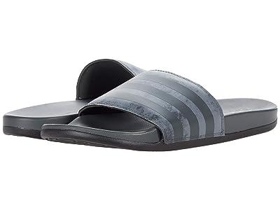 adidas Adilette Comfort Slides (Halo Silver/Grey/Black) Athletic Shoes