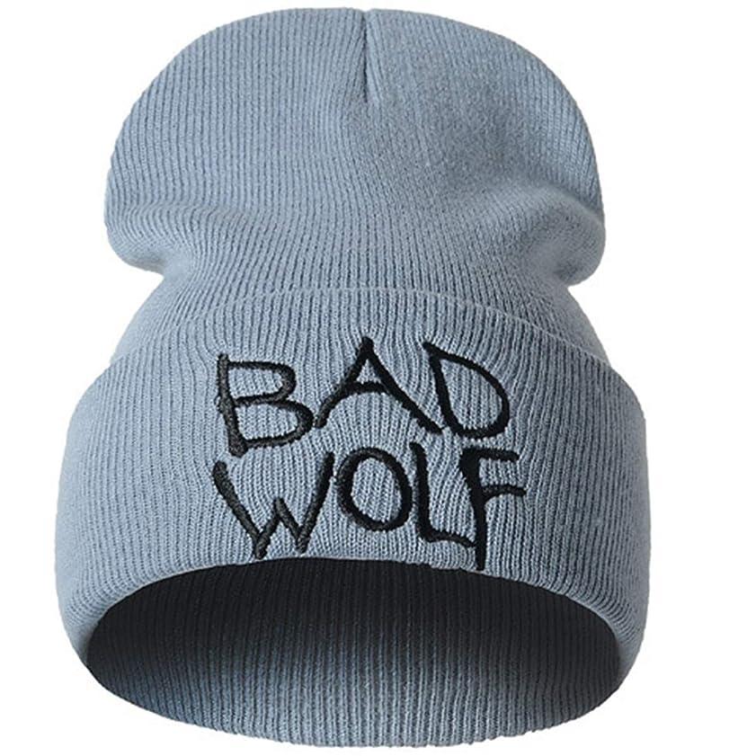 通信網雇う運ぶレディースニット帽子 スキーキャンプアウトドアスポーツハットビーニーハットユニセックス、ヒップホップの帽子冬の帽子ニットだらしないウォームスカルキャップスキー帽子 フリーサイズ (Color : Grey)