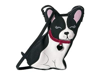 Betsey Johnson Faux Fur Gedaboutit Crossbody (Black/White) Cross Body Handbags