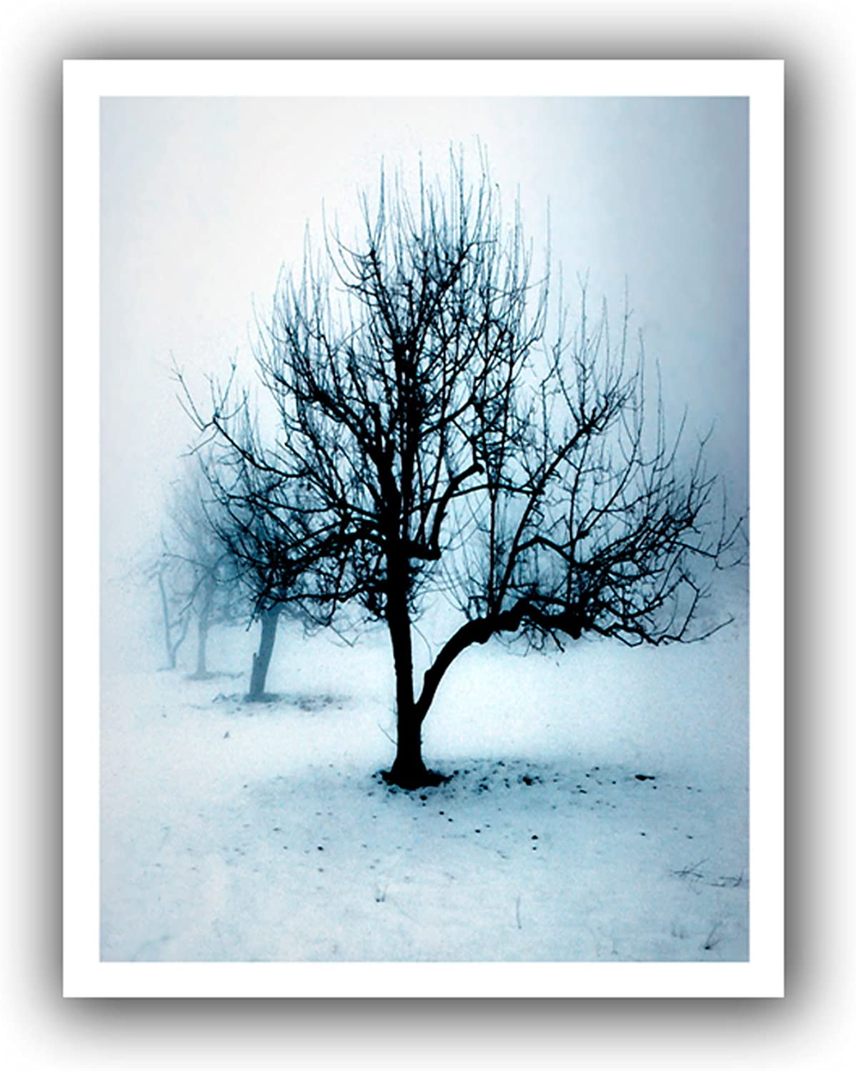 ArtWall Dean Uhlinger Winter Orchard Unwrapped Canvas Artwork, 22 by 28, Holds 18 by 24-Inch Image