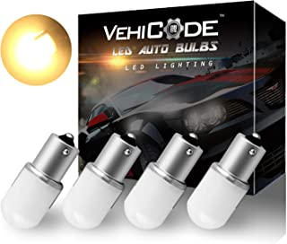 VehiCode Low Voltage 12-24v 1156 7506 1141 1073 93 P21W LED Light Bulb (Soft Warm White) BA15S Single Contact for RV Campe...