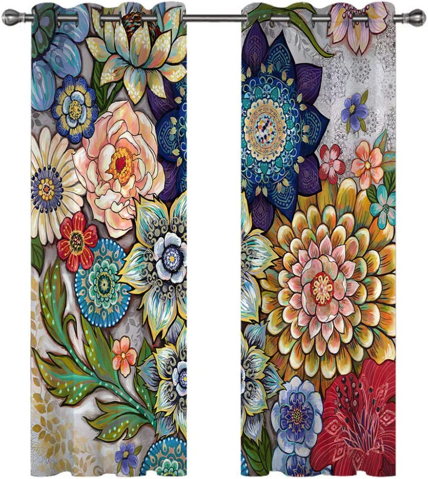 Blackout Curtains Our shop OFFers the best service 3D Colorful Flowers Classic Kids Boys Ho Girls Nursery
