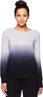 Women's Long Sleeve Graphic Yoga T Shirt - Activewear Top w/Open Back