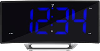 La Crosse Technology 617-249 1.8 Inch Curved Blue LED Atomic Dual Alarm Clock