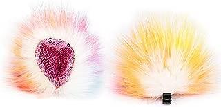 Animears Anime Cosplay Ears | Colorful Faux Fur Clip-on Animal Ears | Soft and Fluffy Animal Costume Ears | Furry Cat Ears