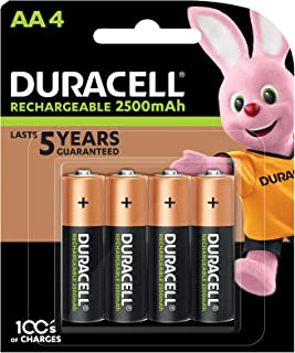 Duracell Duracell Rechargeable AA 2400mAh Battery, 4 Pack, 4 count, Pack of 4