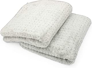 The Rag Company (2-Pack 20 in. x 40 in. Platinum PLUFFLE Professional Korean 70/30 480gsm Plush Waffle Microfiber Detailing Drying Towels