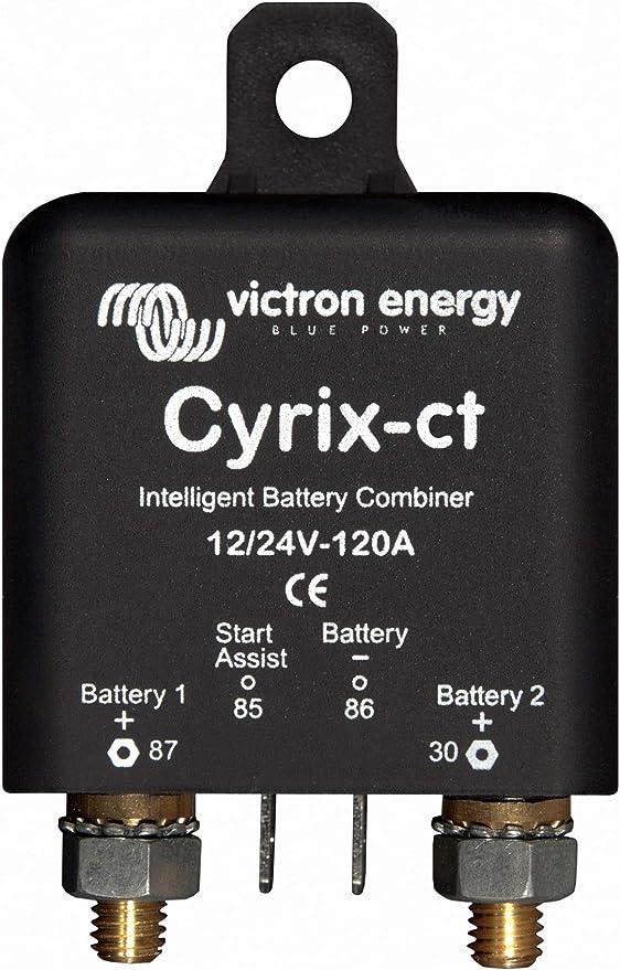 12V 130Ah Deep Cycle Leisure Battery /& Victron 120A Cyrix Spilt Charge Rekay Kit