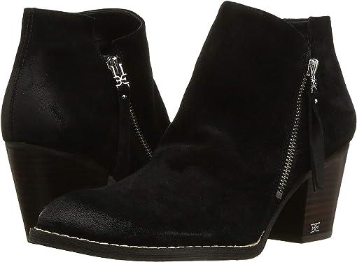 Black Resinato Velutto Suede Leather