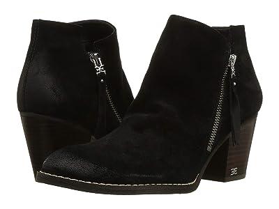 Sam Edelman Macon (Black Resinato Velutto Suede Leather) Women