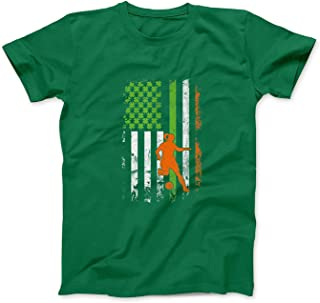 Mint Mama Irish Soccer Girls American Flag St Patrick's Day Gifts T-Shirt