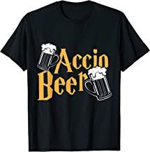 Accio Beer T-shirt Potter Magic Spell Drink Funny Harry Gift