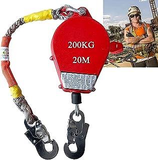 自動引き込み式ライフラインケーブル、スチール製フック付き自動引き込み式ストラップ落下防止、石油化学建設、船舶および登山用の個人用落下リミッター、200KG ベアリング