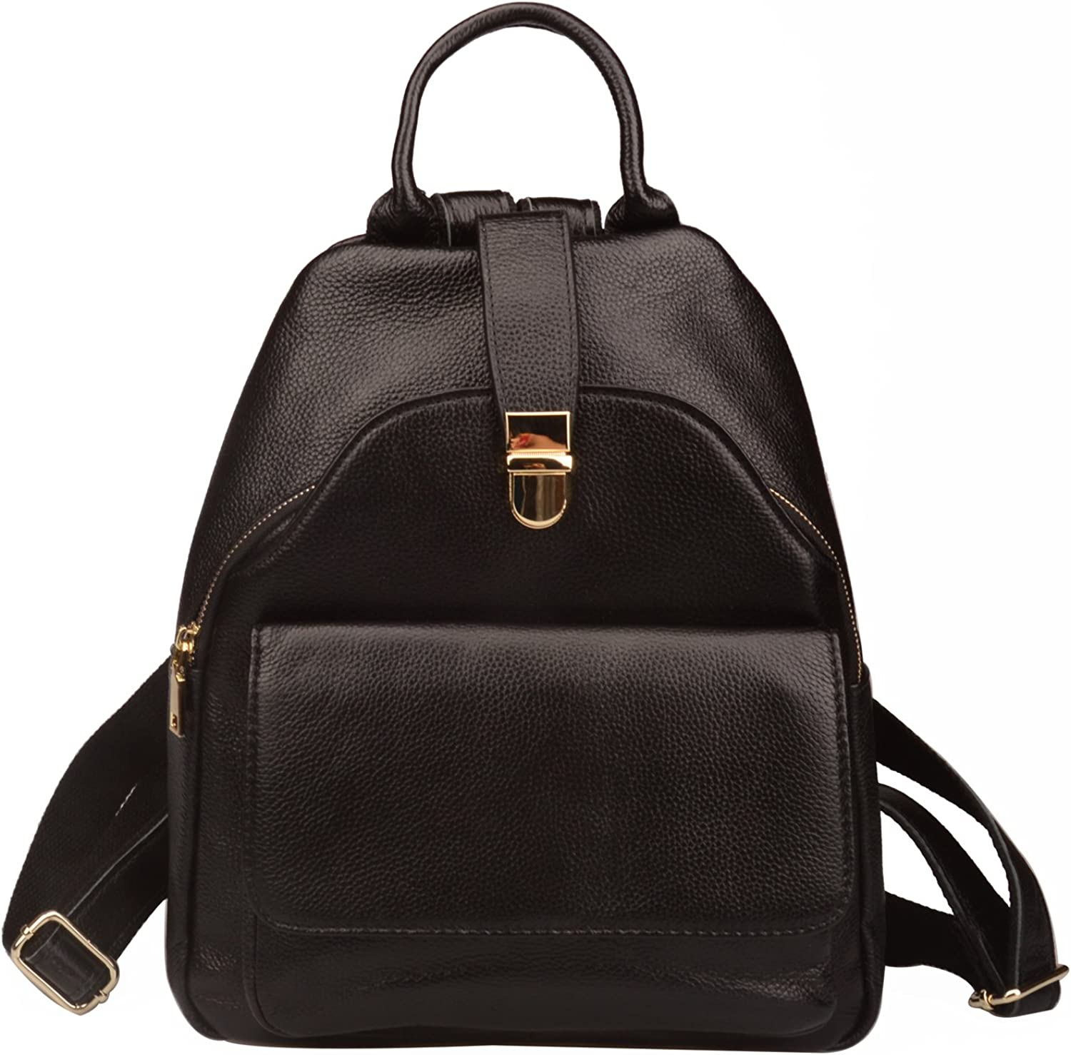 Fiswiss Women's Genuine Leather Everyday Backpack Handbags And Purses