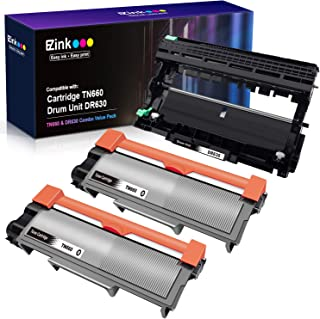 E-Z Ink (TM) Compatible Toner Cartridge & Drum Unit Replacements for Brother DR630 TN630 TN660 High Yield to use with HL-L2300D MFC-L2720DW MFC-L2740DW HL-L2305W(2 Black Toners & 1 Drum Unit, 3 Pack)