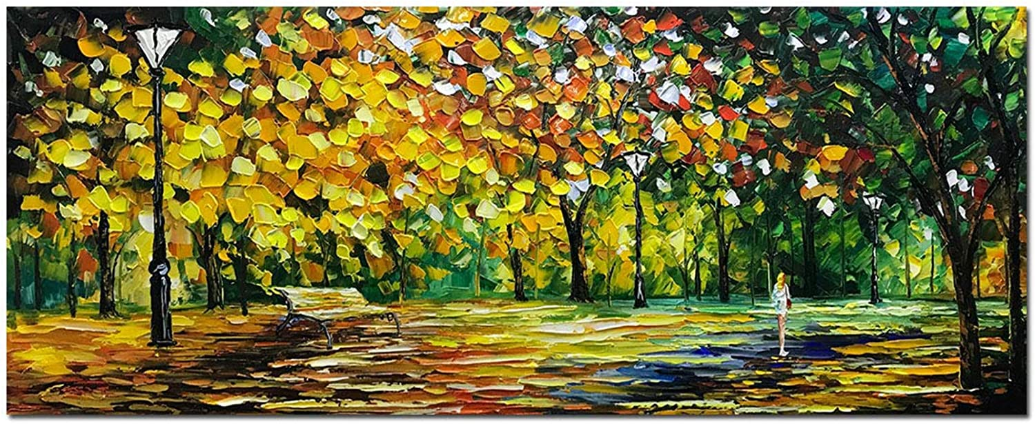 V-inspire Art 24x60 inch Contemporary Abstract Oil Paintings,100% Hand Painted Frameless Canvas Painting, Modern Decorative Artwork on Canvas Wall Art for Home Decoration Wall Decor