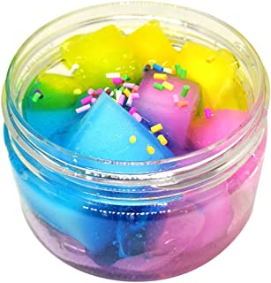 Gbell 100 ML Colorful Fruit Coconut Mud Mixing Cloud Slime Squishy Putty Scented Stress Clay Toy for Adults,Boys,Girls