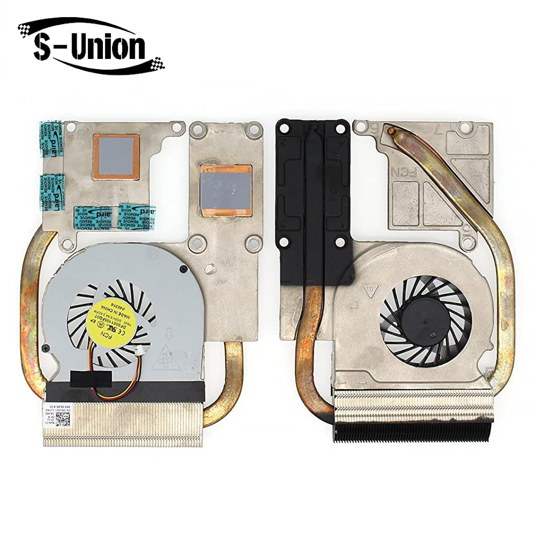 S-Union New Replacement CPU Cooling Fan with Heatsink for Dell Vostro 3560 V3560 Seires Dell Inspiron 15R M521R 5525 Seires Laptop Part Number: DFS501105FQ0T (with thermal grease)