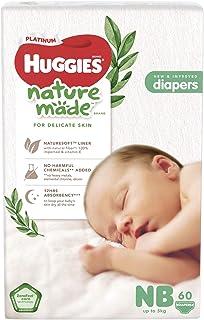 Huggies Platinum Naturemade Tape Diapers Newborn 60s