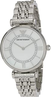 Emporio Armani Women's Watch Ar1908, Silver Band, Analog Display