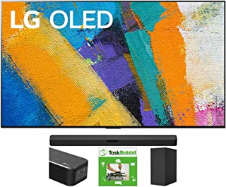 LG OLED65GXPUA 65-inch GX 4K Smart OLED TV with AI ThinQ (2020) Bundle SN5Y 2.1 Channel High Res Audio Sound Bar with DTS ...