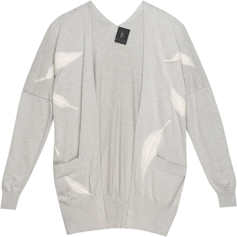 Bobeau Womens Printed Knit Cardigan Sweater