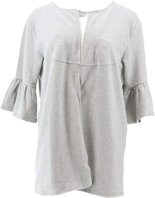 AnyBody Loungwear Cozy Knit French Terry Cardigan A302490