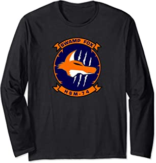 Navy Helicopter Maritime Strike Squadron 74 HSM-74 Patch Long Sleeve T-Shirt