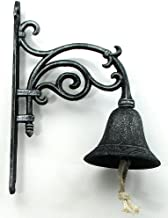 Wall Mounted Call Bell Iron Ring Jingle Sleigh Hanger Indoor Outdoor Vine Heavy Duty Home Large Christmas Cow Bell Dinner Service Decor