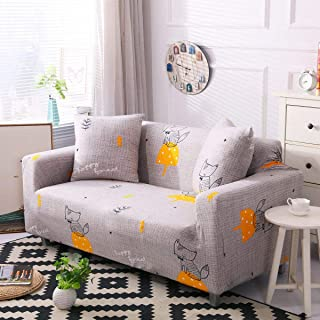 Couch Cover Stretch Sofa Slipcover - Fitted Sofa Cover Stylish Loveseat Slipcover Sectional Couch Covers with 2 Pillow Cases Highly-Elastic Fabric Sofa Covers, Fox-3 Seater/Large 2 Seater