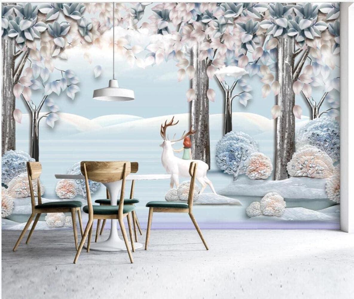 MAZF Custom Photo Mural 3D European Cheap SALE Start Wallpaper 5 ☆ very popular Fores Hand-Painted