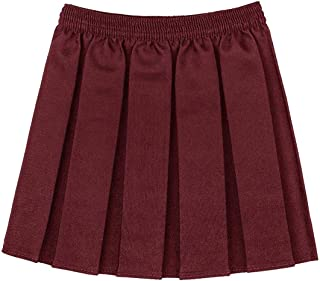 eabe52b71ba Filles Enfants Uniforme Scolaire Boîte Plissé Taille Élastique Jupe Age  2-18 Ans