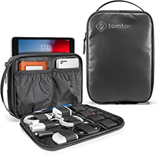tomtoc Electronic Organizer Travel Universal Cable Kit Management Organizer Accessories Storage Case Pouch Bag for iPad Mini 5/4 / 3, Cable, Charger, Phone, USB, SD Card