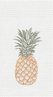 C&F Home Tropical Pineapple Embroidered Waffle Weave Kitchen Towel Kitchen Towel