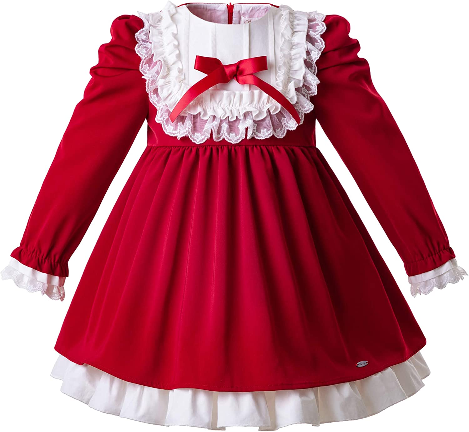 Pettigirl Winter Girls Dresses Red Casu Fall Special price for a limited time Party Sale Princess Lace