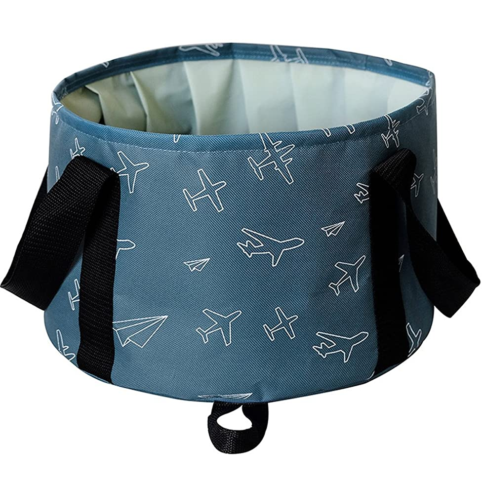 L.Atsain Premium Outdoor Travel Folding Bucket Portable Washing Basin Bucket With Free Carrying Pouch For Fishing/Face Wash/Footbath/Pet Water Bowl Etc