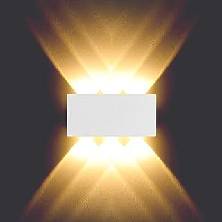 BELLALICHT Luminaire mural intérieur up and down 6W Applique led murale en aluminium Étanche IP54 Lumiere Blanc Chaud pour...