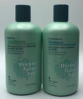 Thicker Fuller Hair Strengthening Shampoo & Repairing Conditioner 12oz