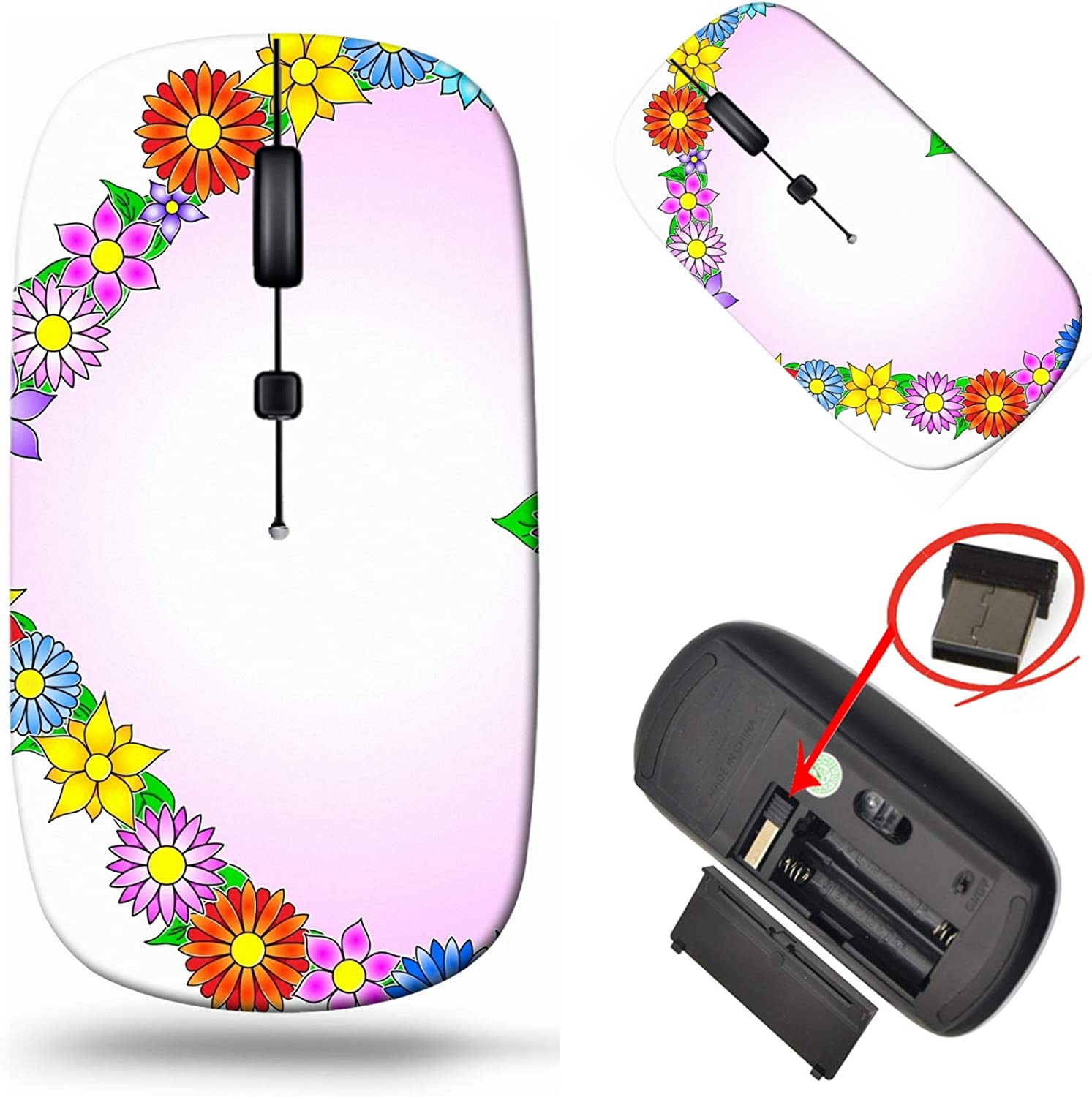 MSD Computer Wireless Mouse Laptop 2.4G Denver Mall USB Tra