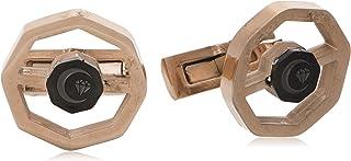 Diamond Moon Stainless Steel Cufflinks for Men, Stainless Steel - 1800541240426