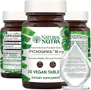 Natural Nutra Pycnogenol Premium Supreme French Maritime Pine Bark Extract Supplement, Blood Circulation and Joint, Immune...