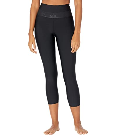 ALO High-Waist Fitness Capris (Black) Women