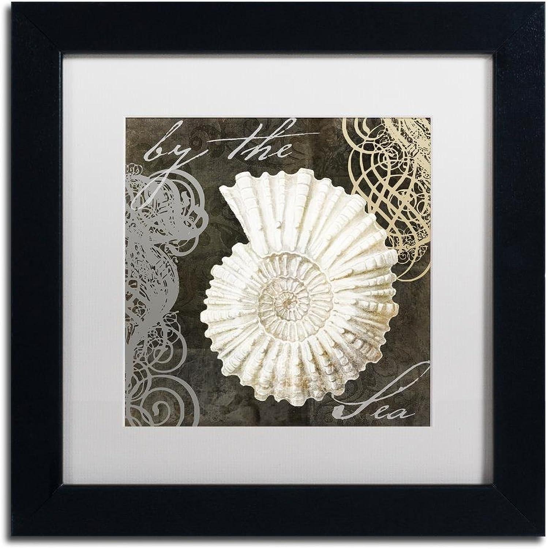 Trademark Fine Art ALI4664B1111MF Cocoa Beach II by color Bakery, White Matte, Black Frame 11x11