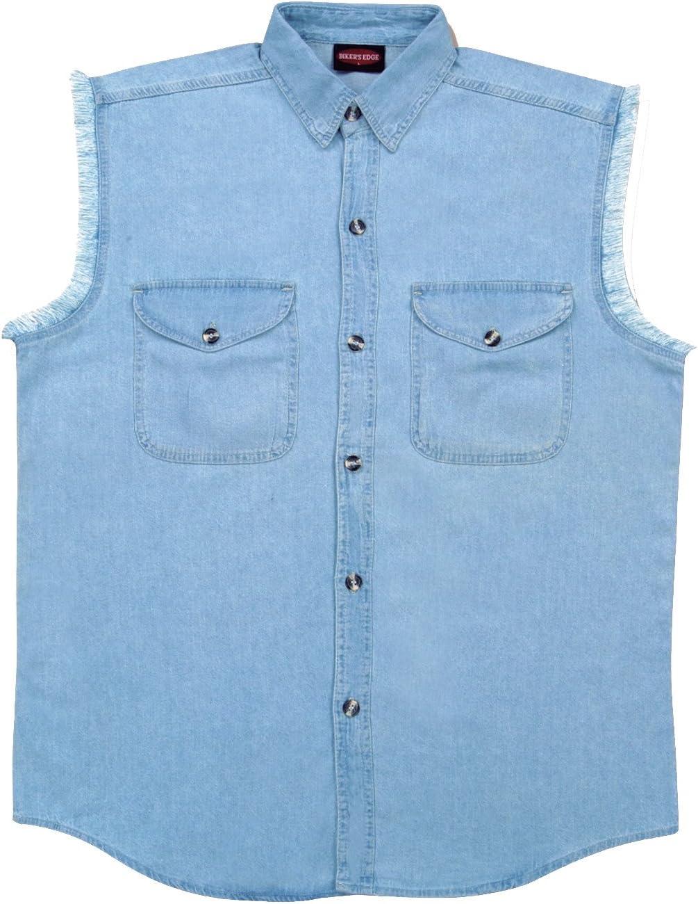 Milwaukee Performance DM1001-LBLU-S Mens Denim Sleeveless Shirt Light Blue Small