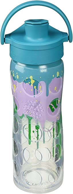 Glass Bottle Ombre/Splash with Active Flip Cap 16 oz.