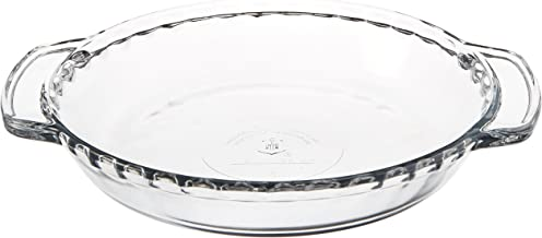 Anchor Hocking 77886 Fire-King Deep Pie Baking Dish, Glass, 9.5-Inch
