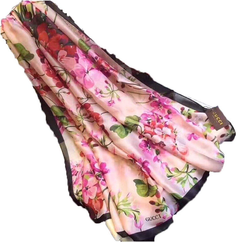 Women's and men's fashion luxury four seasons silk scarf Valentine's Day gift (V7)